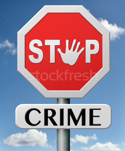 stop crime Stock photo © kikkerdirk