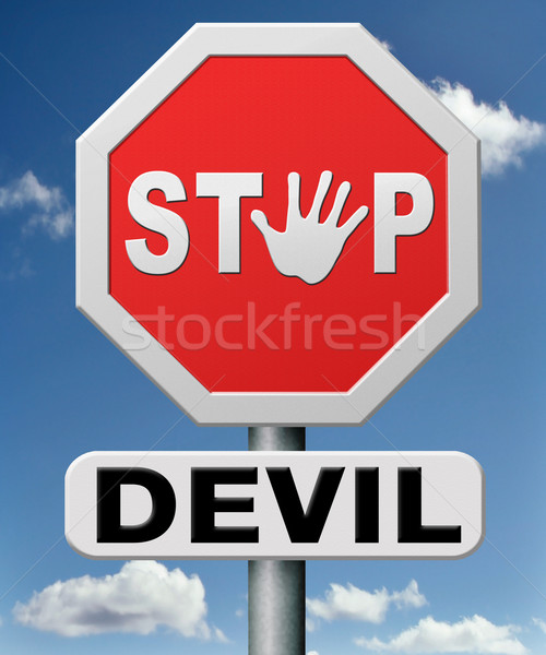 stop the devil Stock photo © kikkerdirk