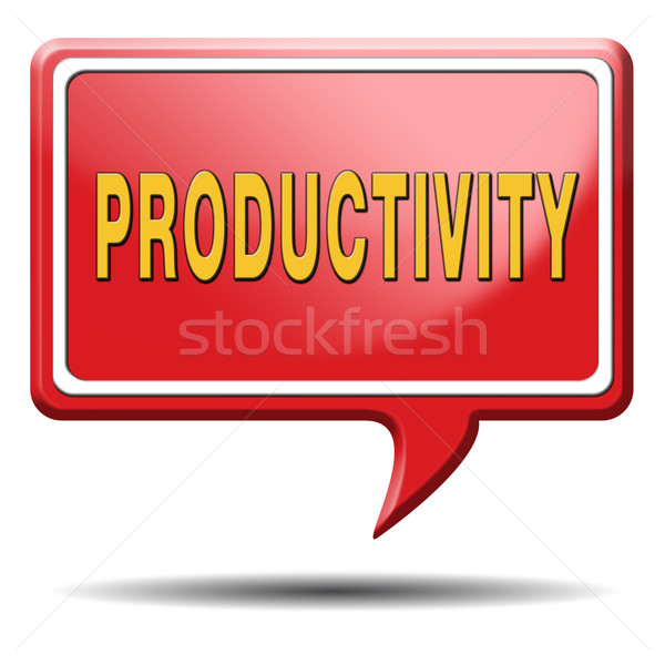 productivity Stock photo © kikkerdirk