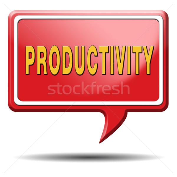 Productividad industrial negocios productivo producción Foto stock © kikkerdirk