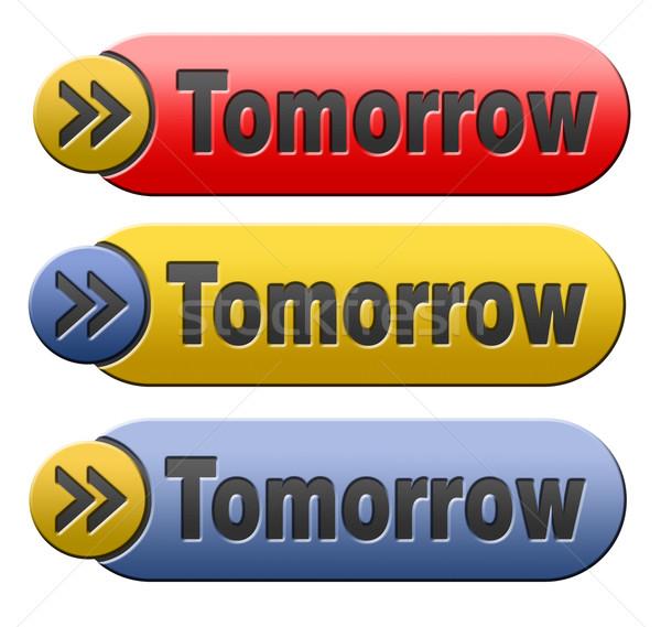 завтра кнопки знак икона следующий день Сток-фото © kikkerdirk