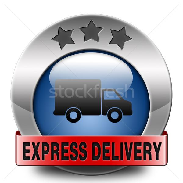 Livraison express expédition ligne ordre internet Photo stock © kikkerdirk
