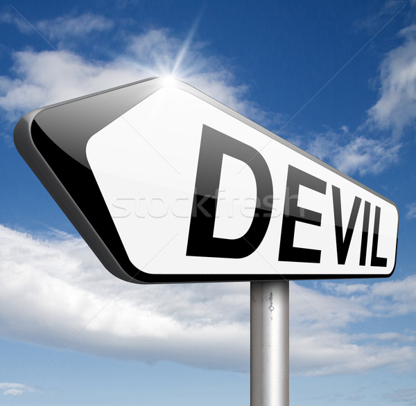 devil temptation Stock photo © kikkerdirk