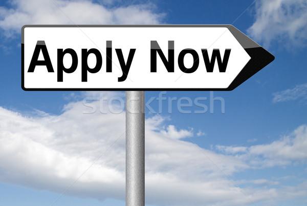 apply and register now Stock photo © kikkerdirk