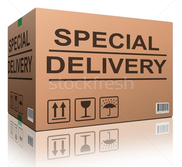 special delivery cardboard box Stock photo © kikkerdirk