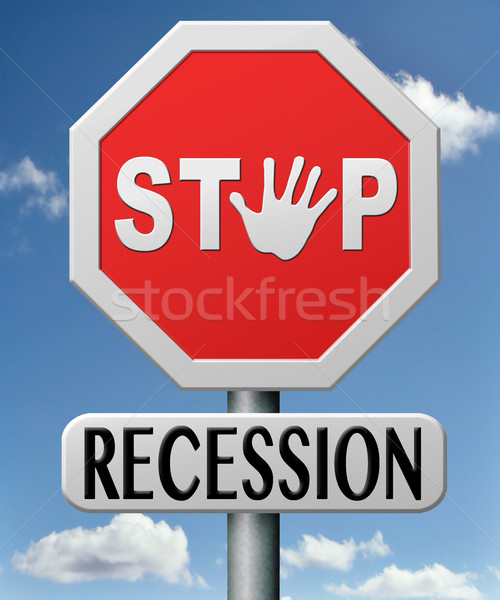 stop recession Stock photo © kikkerdirk
