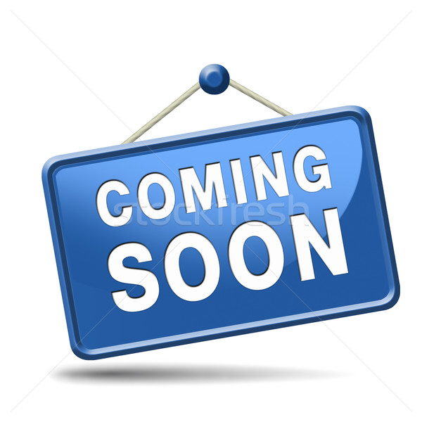 Stock photo: coming soon icon