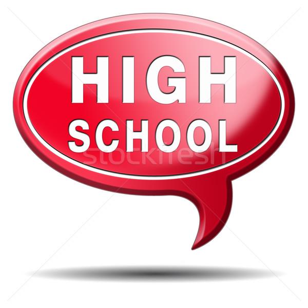 Escola secundária escolha pesquisar encontrar bom educação Foto stock © kikkerdirk
