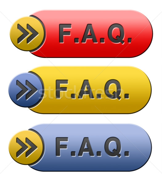 Faq icon vaak vragen antwoorden Zoek Stockfoto © kikkerdirk