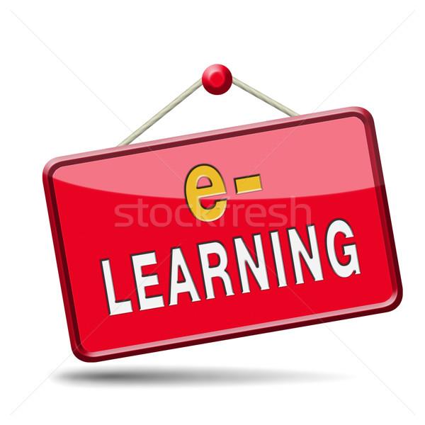 を インターネット 学習 オープン 学校 ストックフォト © kikkerdirk