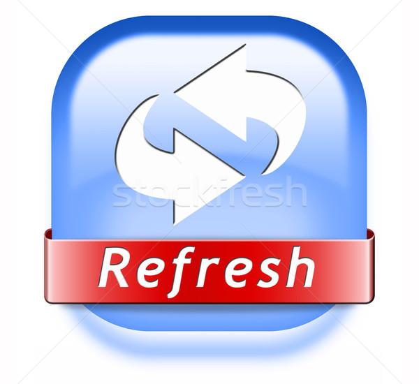 refresh button Stock photo © kikkerdirk