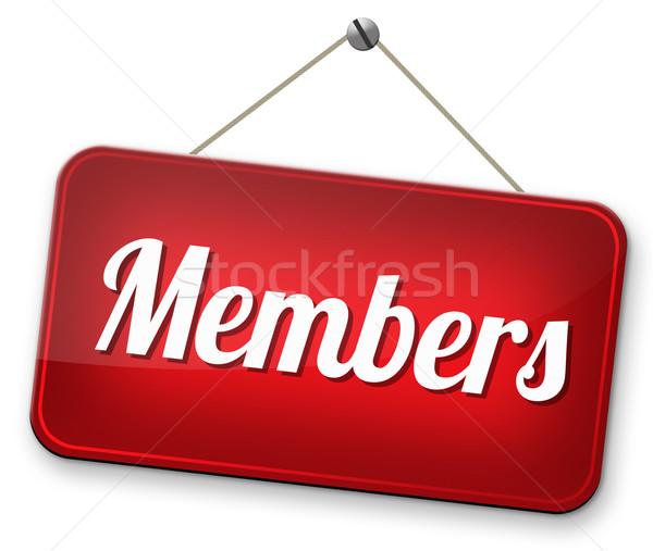 Ograniczony członkostwo podpisania tekst naklejki członek Zdjęcia stock © kikkerdirk