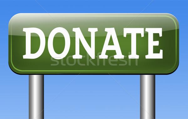 Darować dobroczynność dać pomoc fundusz ceny Zdjęcia stock © kikkerdirk