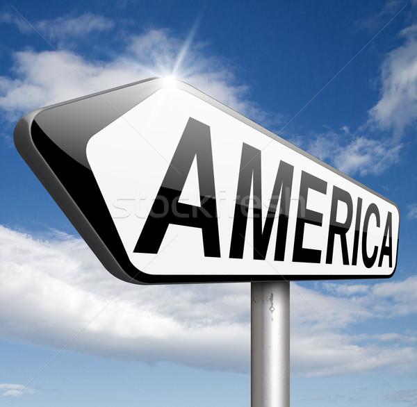 Amerika észak dél központi utazás vakáció Stock fotó © kikkerdirk