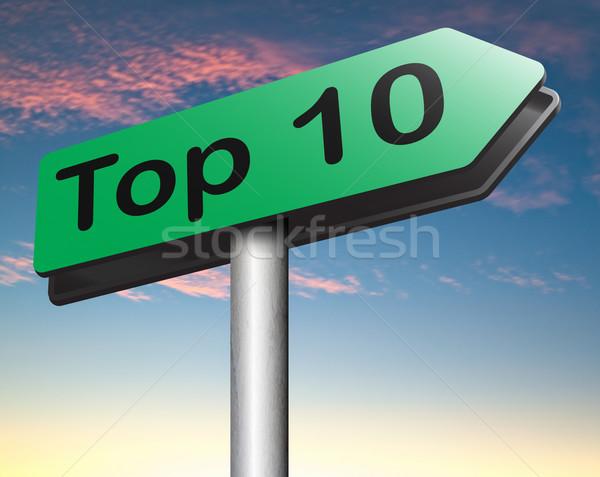 Top 10 Charts Liste Pop Umfrage Stock foto © kikkerdirk
