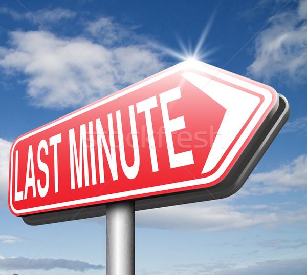 Dernier minute billet vol réservation Photo stock © kikkerdirk