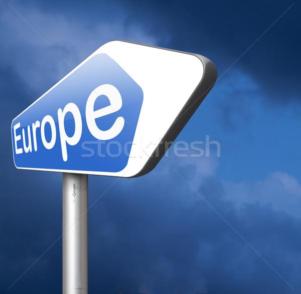 Europie kierunku starych kontynent podróży Zdjęcia stock © kikkerdirk