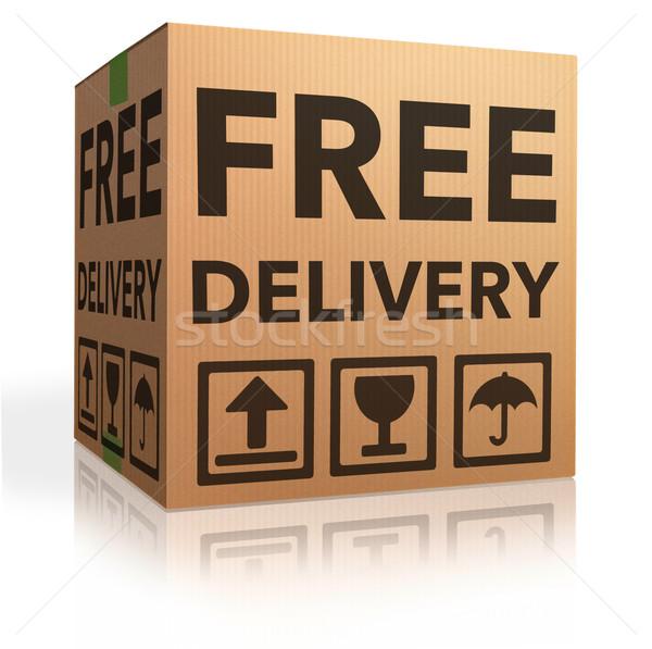 Ingyenes szállítás csomag szállítás online internet webshop Stock fotó © kikkerdirk