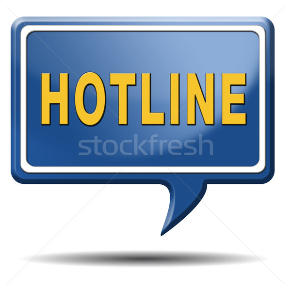 Hotline icon call center teken online Stockfoto © kikkerdirk