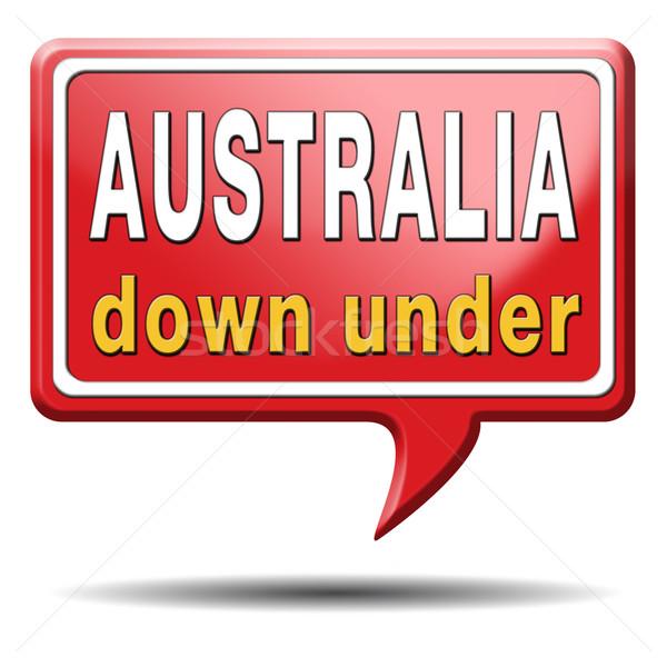 Австралия икона вниз континент туризма праздник Сток-фото © kikkerdirk