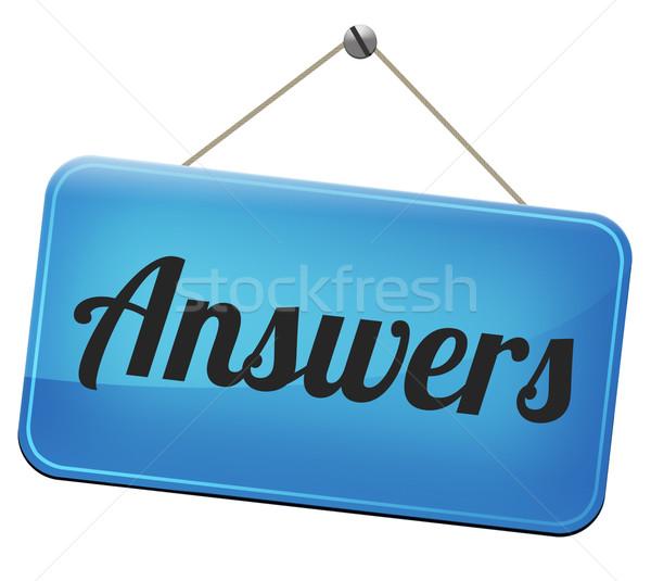 answers to solve problems Stock photo © kikkerdirk