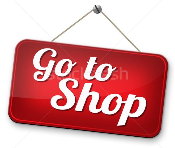 Winkel nu teken online webshop internet Stockfoto © kikkerdirk