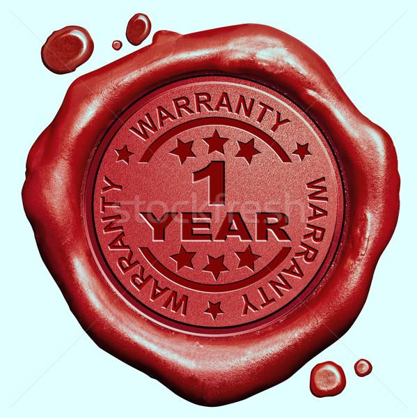 Jahr Garantie Qualität Label garantiert Produkt Stock foto © kikkerdirk