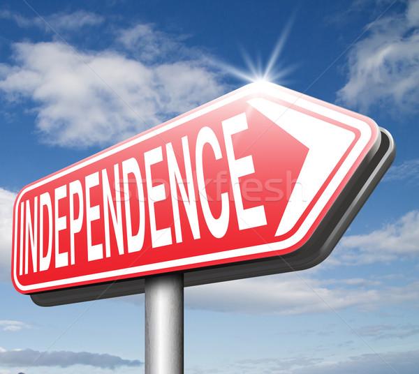 Placa sinalizadora independente vida viver sucesso liberdade Foto stock © kikkerdirk