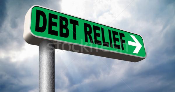 Dług ulga upadłość kredytowej obudowa pęcherzyki Zdjęcia stock © kikkerdirk