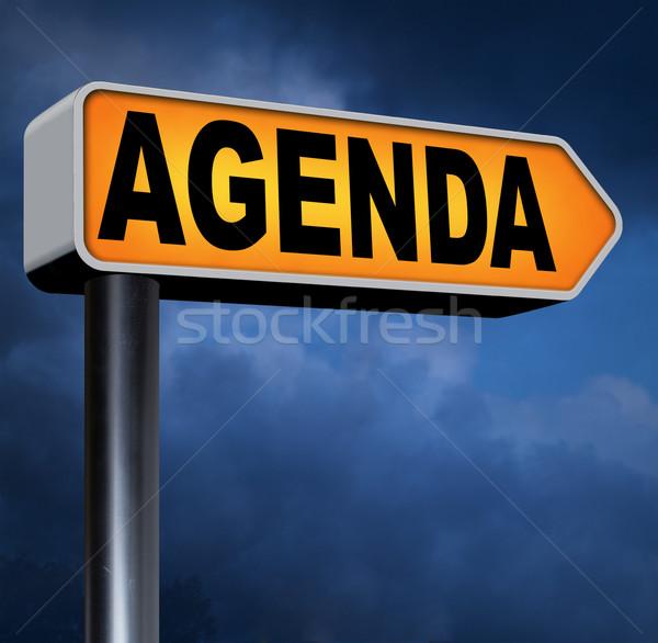 Agenda dienstregeling business schema organiseren planning Stockfoto © kikkerdirk