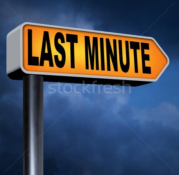 Utolsó perc jegy előre bejelentkezés könyv korai Stock fotó © kikkerdirk