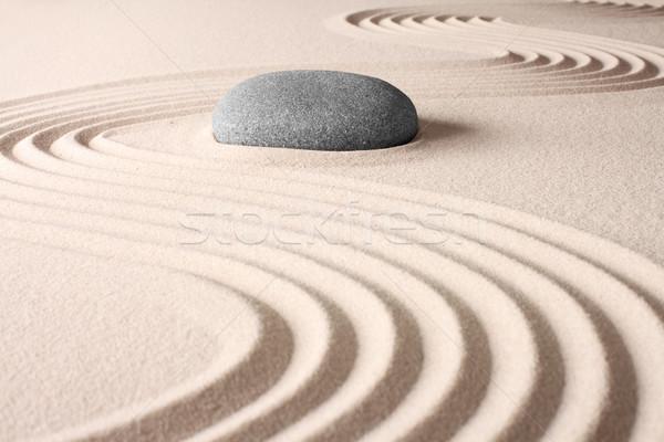 Japonês zen jardim meditação concentração estância termal Foto stock © kikkerdirk