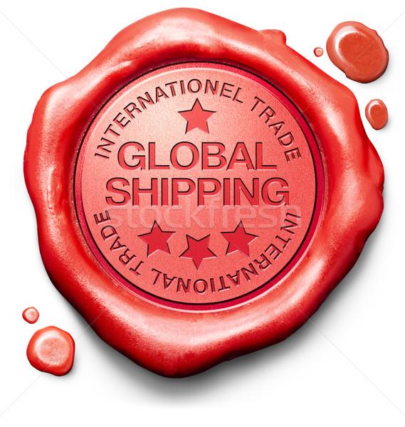 Globális szállítás világszerte házhozszállítás online rendelés Stock fotó © kikkerdirk