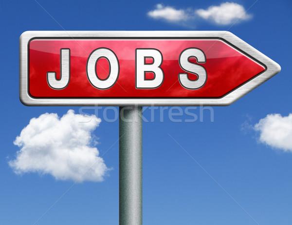 álláskeresés állások online állás alkalmazás segítség Stock fotó © kikkerdirk