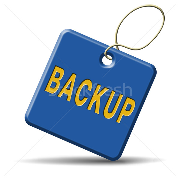 backup icon or sign Stock photo © kikkerdirk