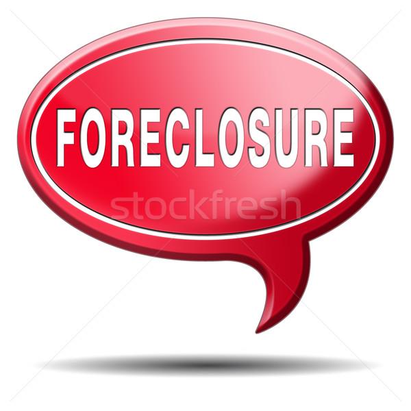 Uitsluiting veiling hypotheek huis lening Stockfoto © kikkerdirk