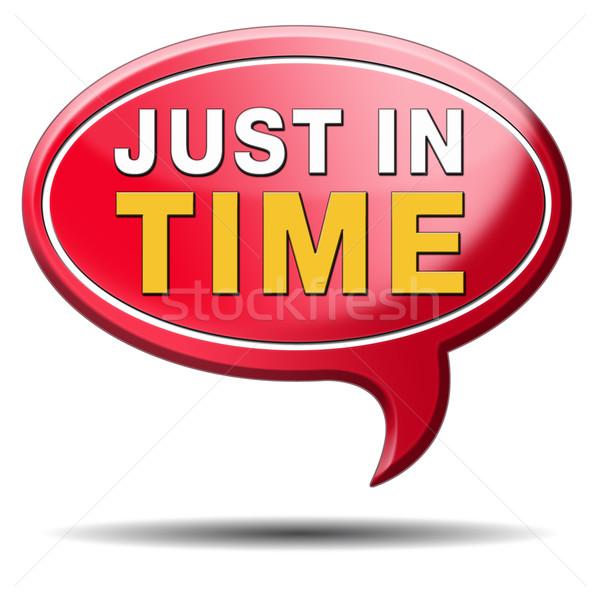 Tijd levering teken icon druk termijn Stockfoto © kikkerdirk