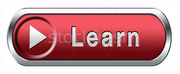 learn button Stock photo © kikkerdirk