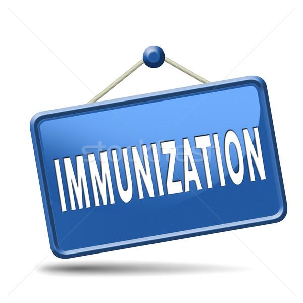 Immunizálás influenza oltás tű kórház gyógyszer Stock fotó © kikkerdirk