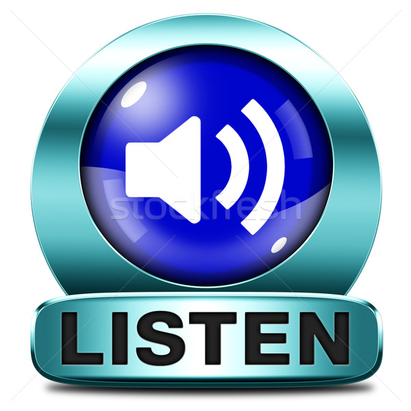listen icon Stock photo © kikkerdirk