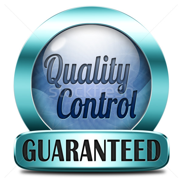 Controle de qualidade etiqueta 100 garantido garantia topo Foto stock © kikkerdirk