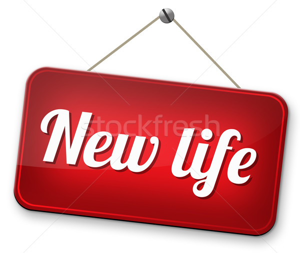 Yeni hayat yol taze yeni başlatmak imzalamak Stok fotoğraf © kikkerdirk