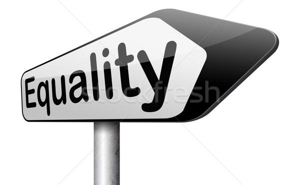 Eşitlik dayanışma herkes eşit Stok fotoğraf © kikkerdirk