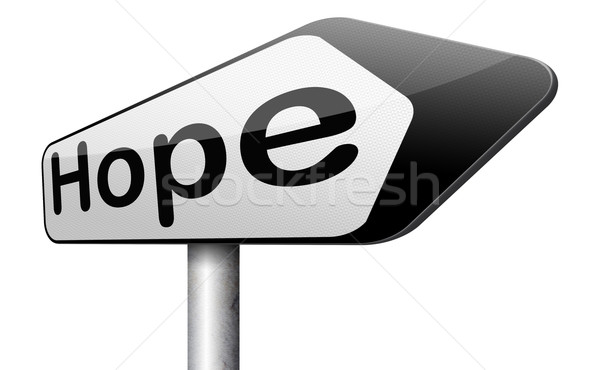 Espoir signe lumineuses avenir plein d'espoir meilleur Photo stock © kikkerdirk