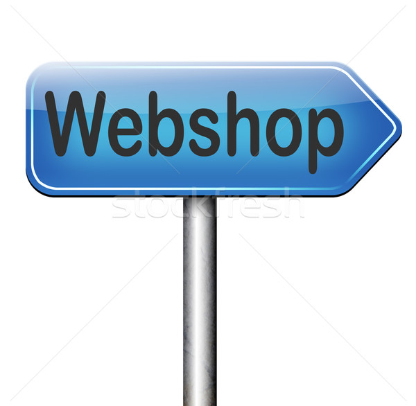 Webshop online vásárlás internet háló bolt vásárol Stock fotó © kikkerdirk
