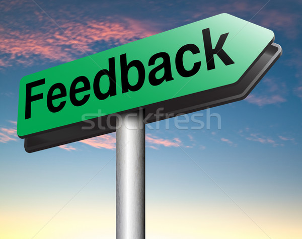 ストックフォト: フィードバック · サービス · 顧客満足 · 製品 · 調査 · ボタン