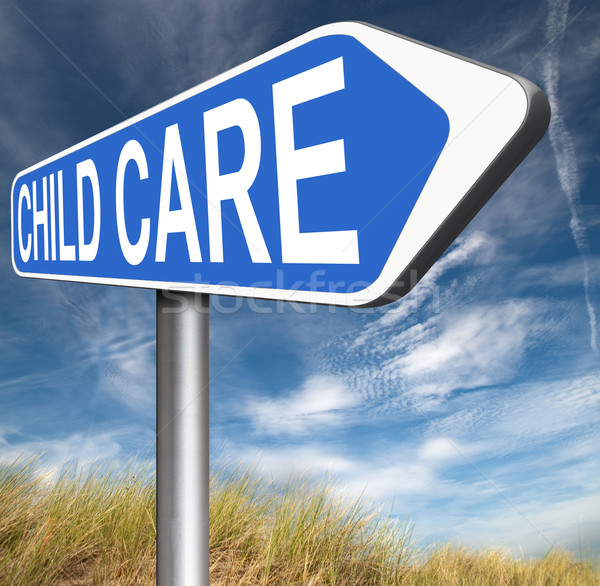 Gyermekgondozás központ óvoda védelem gyermekbántalmazás gyermek Stock fotó © kikkerdirk