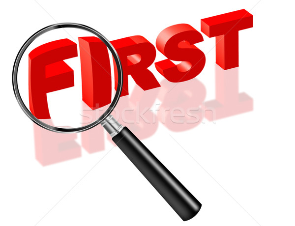 Stock photo: first