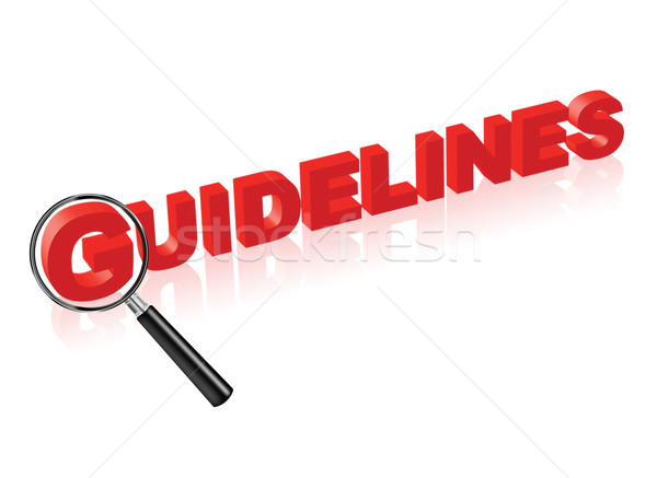 guidelines red text and magnify glass Stock photo © kikkerdirk