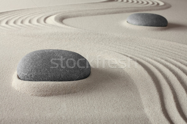 Spirituelle spa zen jardin sable Rock Photo stock © kikkerdirk